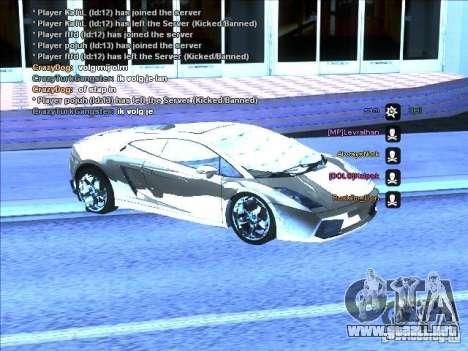 Serie ENB para tarjeta video débil para GTA San Andreas quinta pantalla