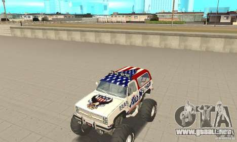 Chevrolet Blazer K5 Monster Skin 7 para GTA San Andreas left