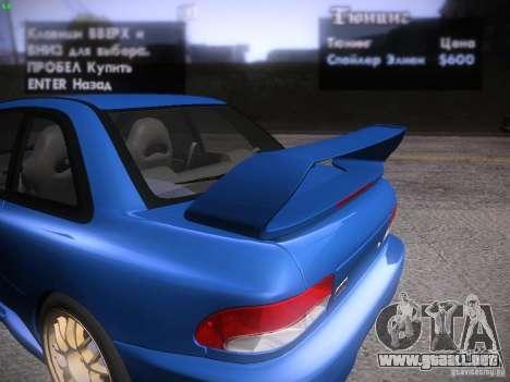 Subaru Impreza 22b Tunable para vista inferior GTA San Andreas