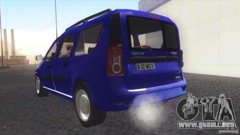 Dacia Logan MCV Facelift para GTA San Andreas left