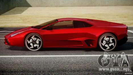 Lamborghini Reventon para GTA 4 vista hacia atrás