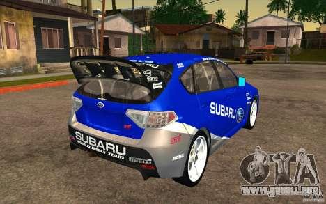Nuevos vinilos para Subaru Impreza WRX STi para visión interna GTA San Andreas