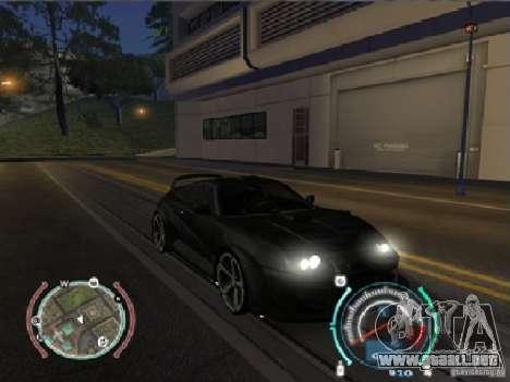 Toyota Supra 2006 Most Wanted para GTA San Andreas vista posterior izquierda