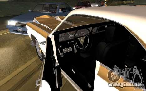 Chrysler 300 Hurst 1970 para visión interna GTA San Andreas