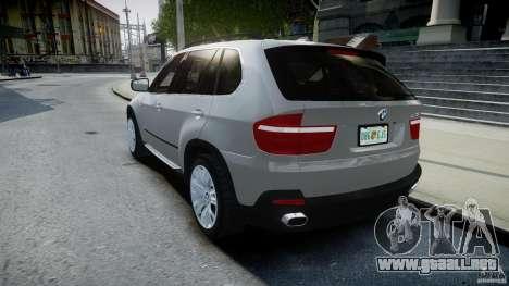 BMW X5 Experience Version 2009 Wheels 223M para GTA 4 Vista posterior izquierda