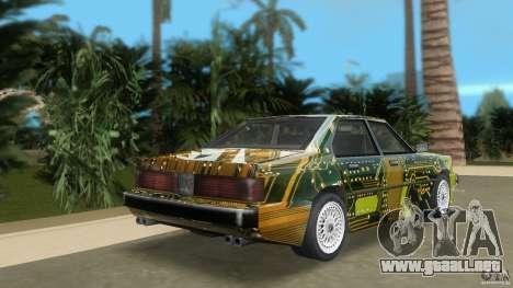 Sentinel Plato para GTA Vice City vista lateral izquierdo