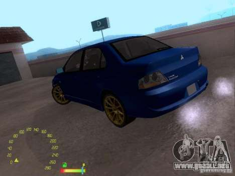 Mitsubishi Lancer EVO BETA para GTA San Andreas left