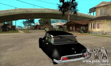 Citroen ID 19 para GTA San Andreas vista posterior izquierda