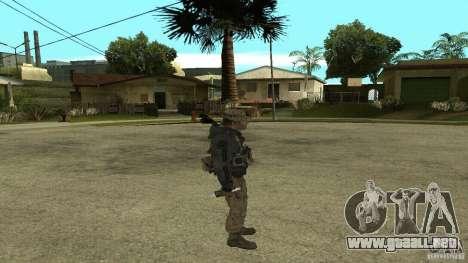 Captain Price para GTA San Andreas quinta pantalla