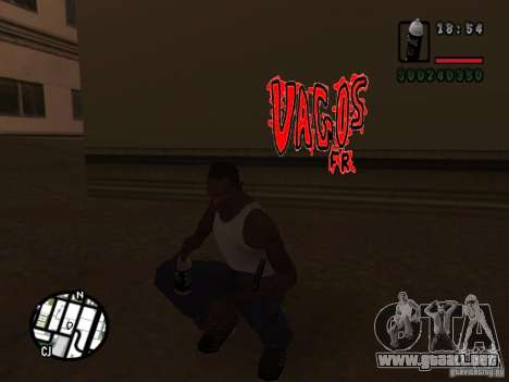 Nuevas bandas de graffiti para GTA San Andreas quinta pantalla