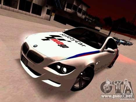 BMW M6 MotoGP SafetyCar para GTA San Andreas left