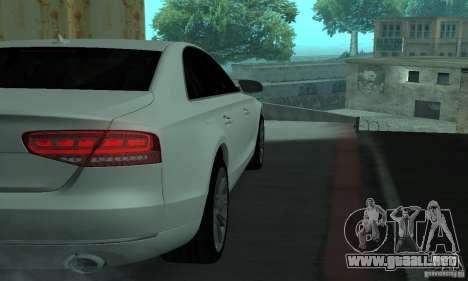 Audi A8 para visión interna GTA San Andreas