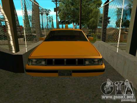 Intruder Taxi para GTA San Andreas vista hacia atrás