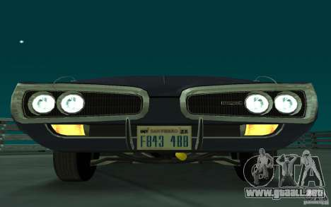 Dodge Coronet Super Bee 1970 para GTA San Andreas left