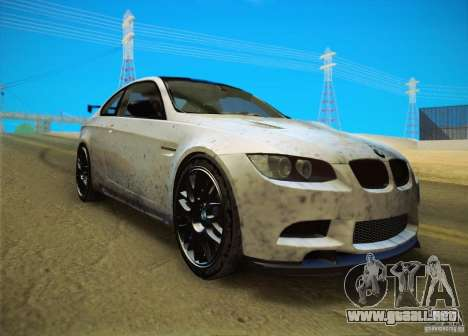 BMW M3 GT-S Final para GTA San Andreas vista posterior izquierda