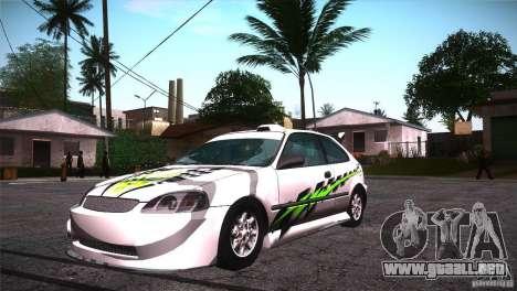 Honda Civic Tuneable para las ruedas de GTA San Andreas