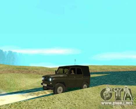 UAZ 31512 para GTA San Andreas vista posterior izquierda