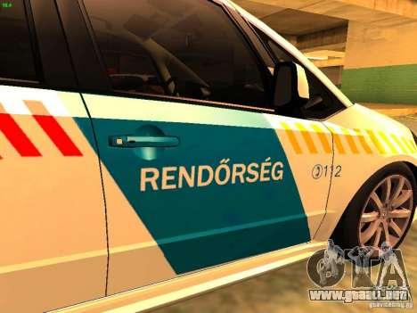Suzuki SX-4 Hungary Police para GTA San Andreas vista hacia atrás