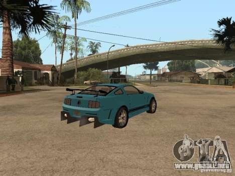 Ford Mustang GT 500 para GTA San Andreas vista posterior izquierda