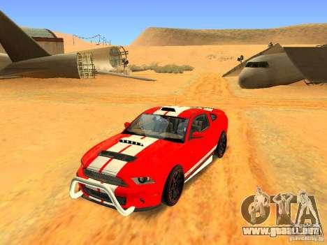 Ford Shelby GT500 para GTA San Andreas interior