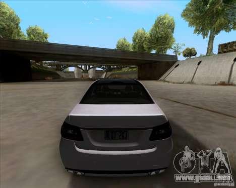 Mercedes-Benz E63 AMG V12 TT Black Revel para GTA San Andreas vista hacia atrás