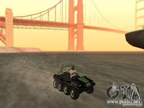 Vehículo todo terreno Argo Avenger para la visión correcta GTA San Andreas