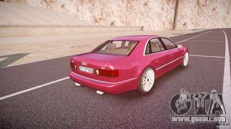 Audi A8 6.0 W12 Quattro (D2) 2002 para GTA 4 vista superior