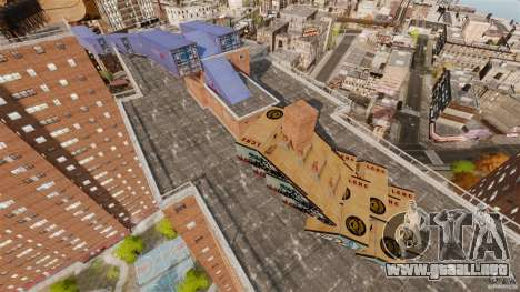 Bike Challenge track + Huge Ramp para GTA 4 adelante de pantalla