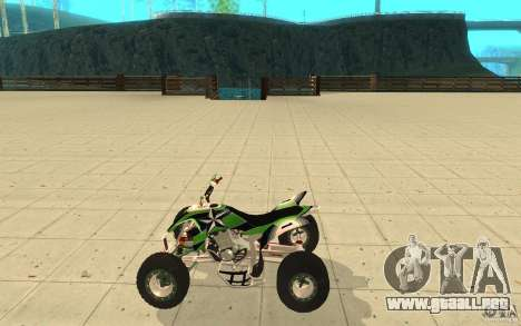 Yamaha YFZ 450 SuperCross Skin 4 para GTA San Andreas left