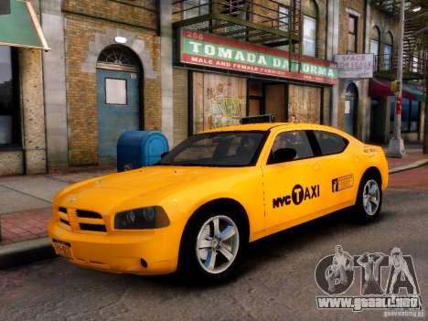 Dodge Charger NYC Taxi V.1.8 para GTA 4 Vista posterior izquierda