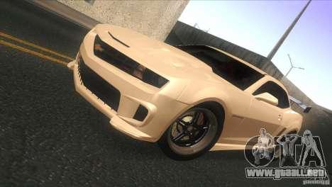Chevrolet Camaro SS Dr Pepper Edition para GTA San Andreas left