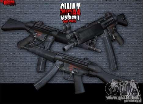MP5A4 para GTA San Andreas segunda pantalla