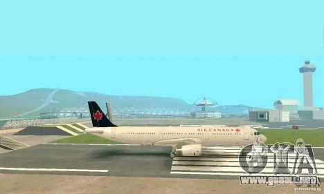 Airbus A321 Air Canada para visión interna GTA San Andreas