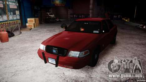 Ford Crown Victoria Detective v4.7 red lights para GTA 4 vista lateral