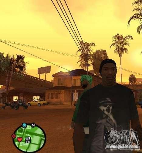 Watchmen Rorschach camisa para GTA San Andreas segunda pantalla