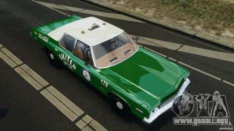 Dodge Monaco 1974 Taxi v1.0 para GTA 4 ruedas