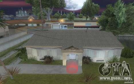 Cuatro casas nuevas en Grove Street para GTA San Andreas sucesivamente de pantalla