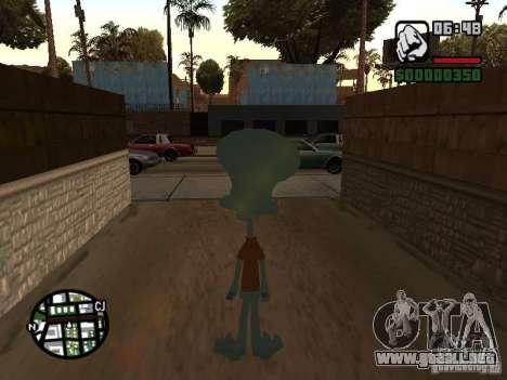 Calamardo para GTA San Andreas sucesivamente de pantalla