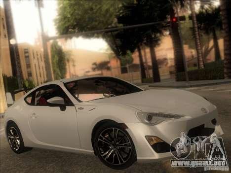 Toyota GT86 2012 para visión interna GTA San Andreas