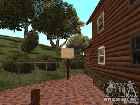 Nueva villa de CJ para GTA San Andreas novena de pantalla
