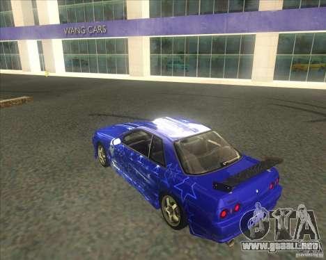 Nissan Skyline R32 GTS-T type-M para la vista superior GTA San Andreas