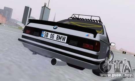 BMW M635CSi Stanced para la visión correcta GTA San Andreas