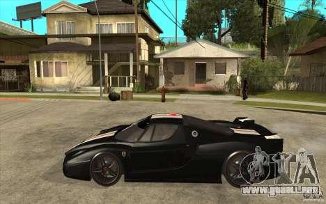 Ferrari FXX 2005 para GTA San Andreas vista posterior izquierda