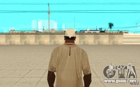 Pañuelo blanco para GTA San Andreas tercera pantalla