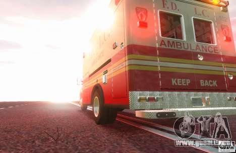 Ford F350 FDLC Ambulance v3.0 ELS para GTA 4 Vista posterior izquierda