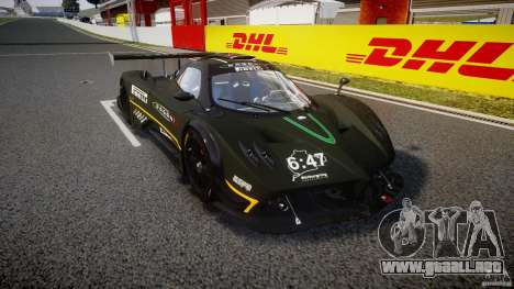 Pagani Zonda R 2009 para GTA 4 vista hacia atrás