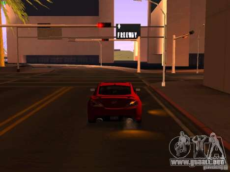 Hyundai Genesis Coupé 3.8 Track v1.0 para vista lateral GTA San Andreas