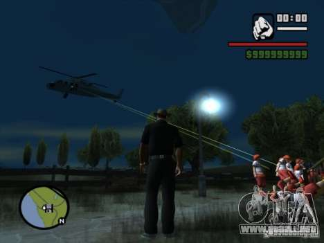 Apoyo aéreo para GTA San Andreas tercera pantalla