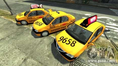 Dacia Logan Prestige Taxi para GTA 4 vista interior