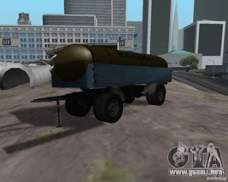Trailer de Kamaz 53212 petrolero de la leche para GTA San Andreas